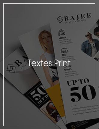 Rédaction de vos support print
